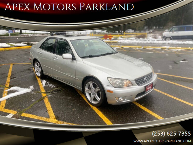 2001 Lexus IS 300 for sale at Apex Motors Parkland in Tacoma WA