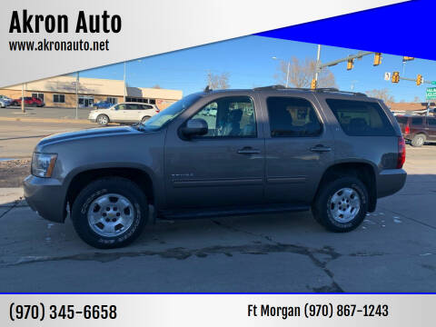 2012 Chevrolet Tahoe for sale at Akron Auto - Fort Morgan in Fort Morgan CO