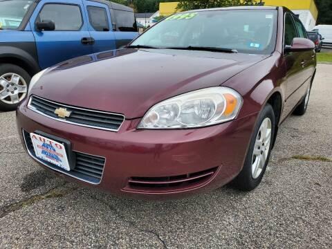 2007 Chevrolet Impala for sale at Auto Wholesalers Of Hooksett in Hooksett NH