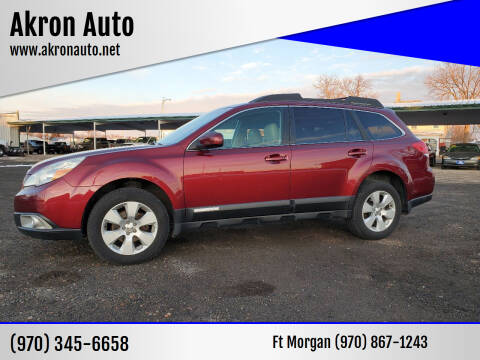2011 Subaru Outback for sale at Akron Auto - Fort Morgan in Fort Morgan CO