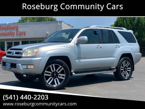 2003 Toyota 4Runner for sale at Roseburg Community Cars in Roseburg OR