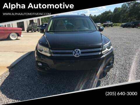 2013 Volkswagen Tiguan for sale at Alpha Automotive in Odenville AL
