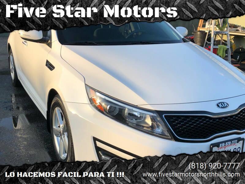 2015 Kia Optima for sale at Five Star Motors in North Hills CA
