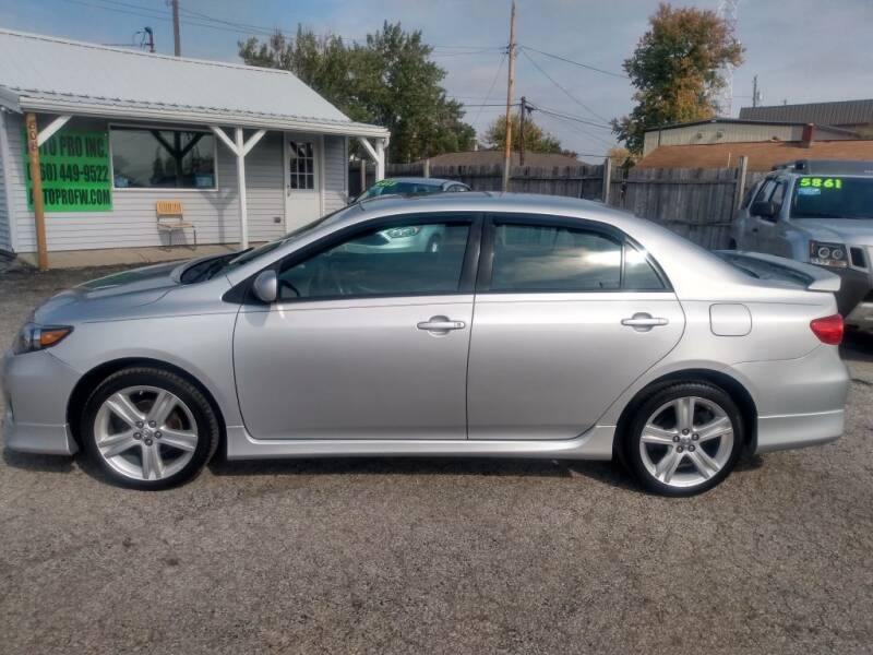 2013 Toyota Corolla for sale at Auto Pro Inc in Fort Wayne IN