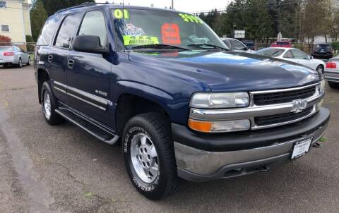 2001 Chevrolet Tahoe for sale at Freeborn Motors in Lafayette, OR