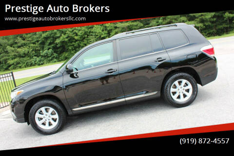 2012 Toyota Highlander for sale at Prestige Auto Brokers in Raleigh NC