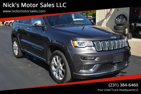 2019 Jeep Grand Cherokee for sale at Nick's Motor Sales LLC in Kalkaska MI