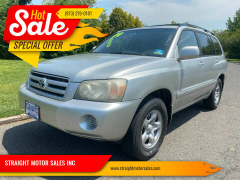 2004 Toyota Highlander for sale at STRAIGHT MOTOR SALES INC in Paterson NJ