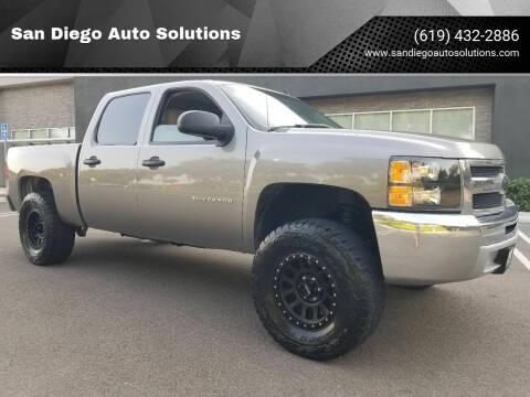 2013 Chevrolet Silverado 1500 for sale at San Diego Auto Solutions in Escondido CA