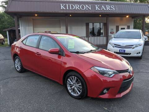 2015 Toyota Corolla for sale at Kidron Kars INC in Orrville OH