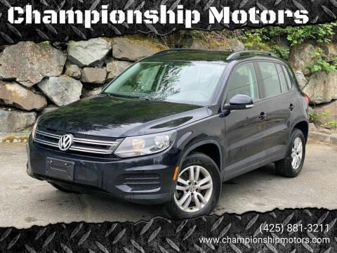 2017 Volkswagen Tiguan for sale at Championship Motors in Redmond WA