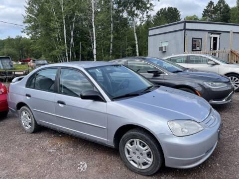 2001 Honda Civic for sale at Al's Auto Inc. in Bruce Crossing MI