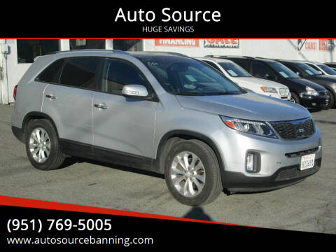 2014 Kia Sorento for sale at Auto Source in Banning CA