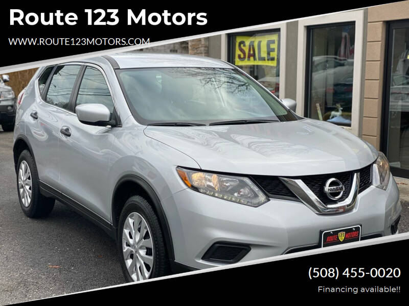 2016 Nissan Rogue for sale at Route 123 Motors in Norton MA