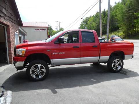 2006 Dodge Ram Pickup 1500 for sale at East Barre Auto Sales, LLC in East Barre VT