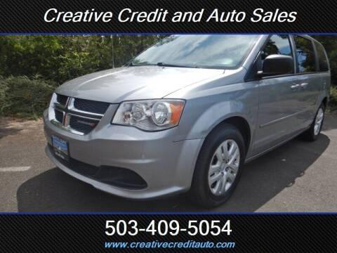 2015 Dodge Grand Caravan for sale at Creative Credit & Auto Sales in Salem OR