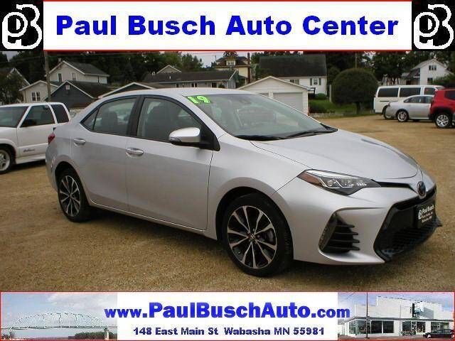 2019 Toyota Corolla for sale at Paul Busch Auto Center Inc in Wabasha MN