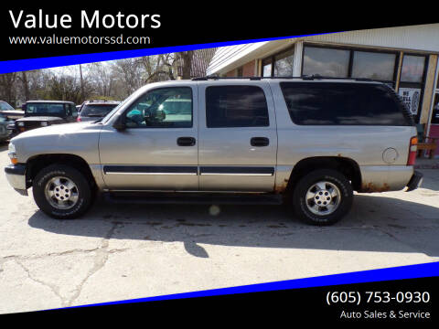 2003 Chevrolet Suburban for sale at Value Motors in Watertown SD