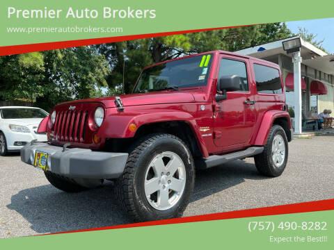 2011 Jeep Wrangler for sale at Premier Auto Brokers in Virginia Beach VA