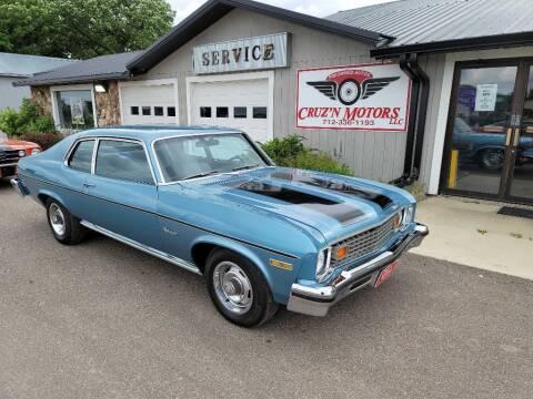 1973 Chevrolet NOVA CUSTOM for sale at CRUZ'N MOTORS - Classics in Spirit Lake IA