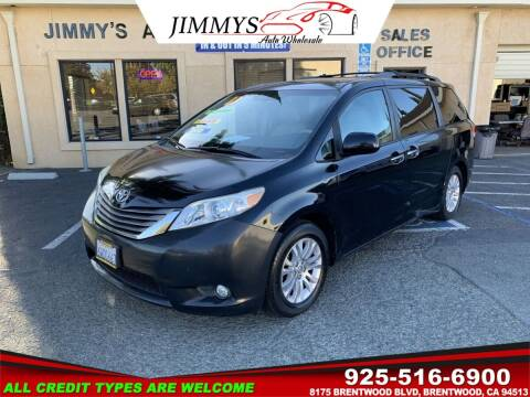 2011 Toyota Sienna for sale at JIMMY'S AUTO WHOLESALE in Brentwood CA