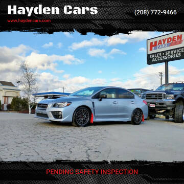 2015 Subaru WRX for sale at Hayden Cars in Coeur D Alene ID