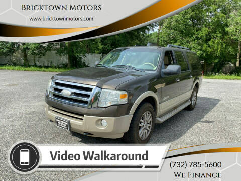 2008 Ford Expedition EL for sale at Bricktown Motors in Brick NJ