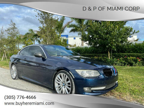 2012 BMW 3 Series for sale at D & P OF MIAMI CORP in Miami FL