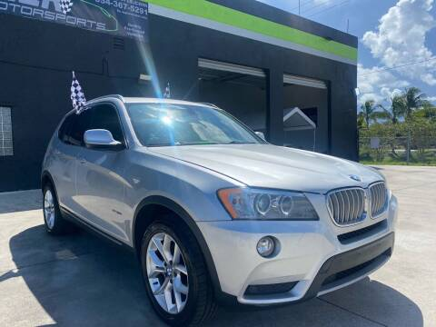 2013 BMW X3 for sale at GCR MOTORSPORTS in Hollywood FL
