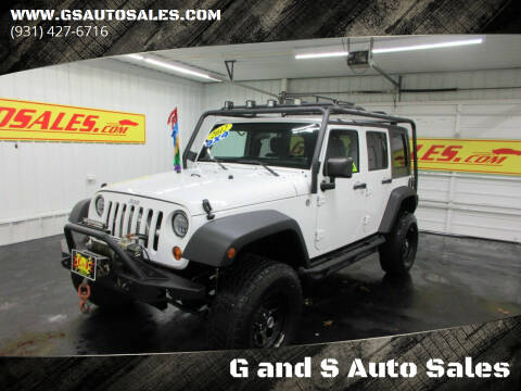 2012 Jeep Wrangler Unlimited for sale at G and S Auto Sales in Ardmore TN