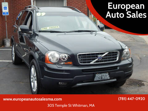 2009 Volvo XC90 for sale at European Auto Sales in Whitman MA