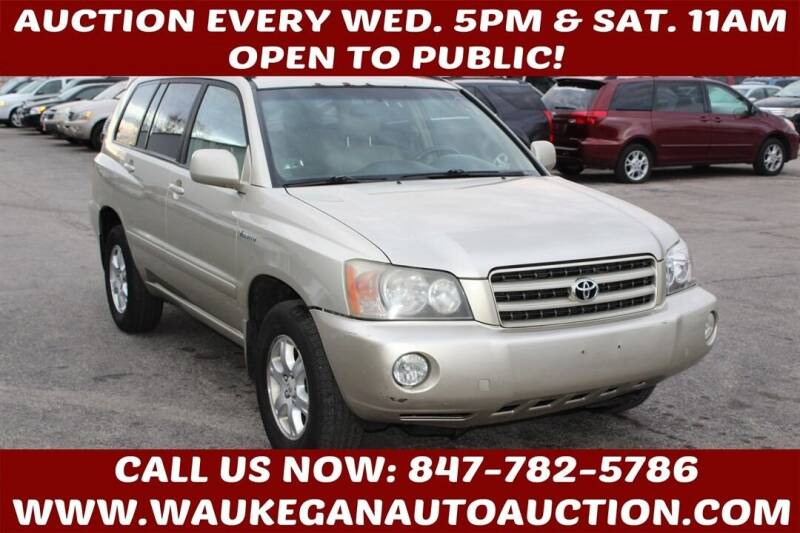 2001 Toyota Highlander for sale at Waukegan Auto Auction in Waukegan IL