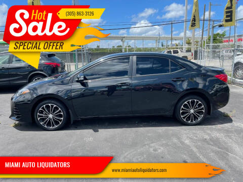 2019 Toyota Corolla for sale at MIAMI AUTO LIQUIDATORS in Miami FL