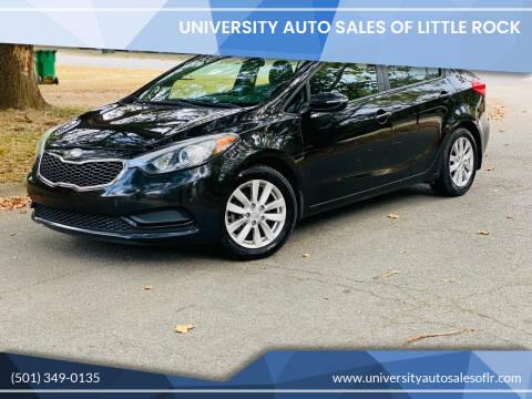 2014 Kia Forte for sale at University Auto Sales of Little Rock in Little Rock AR