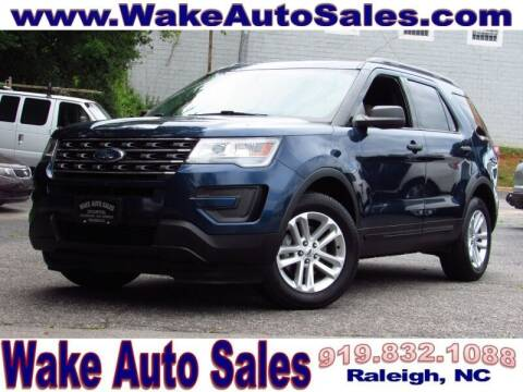 2017 Ford Explorer for sale at Wake Auto Sales Inc in Raleigh NC