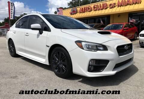 2015 Subaru WRX for sale at AUTO CLUB OF MIAMI in Miami FL