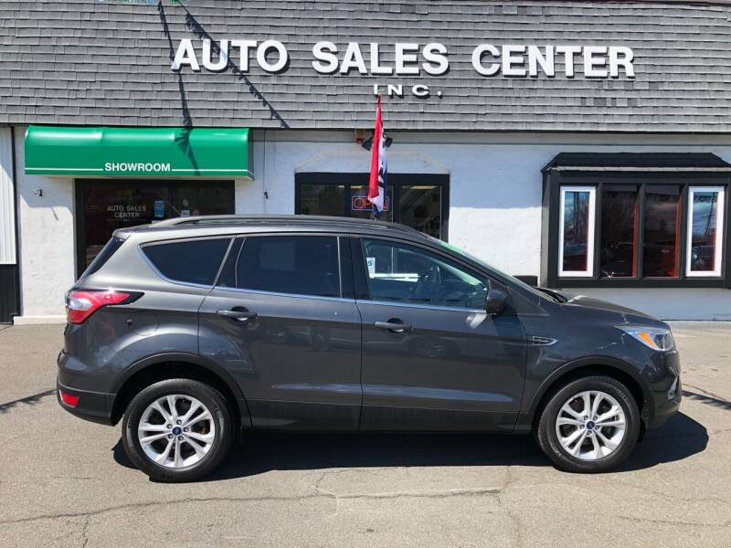 2018 Ford Escape for sale at Auto Sales Center Inc in Holyoke MA