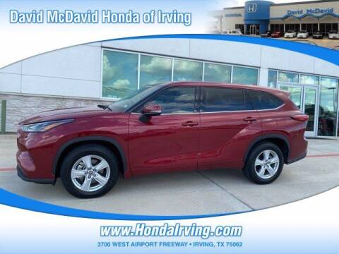 2021 Toyota Highlander for sale at DAVID McDAVID HONDA OF IRVING in Irving TX
