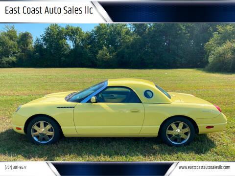 2002 Ford Thunderbird for sale at East Coast Auto Sales llc in Virginia Beach VA