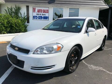 2010 Chevrolet Impala for sale at IV AUTO SALES in Mesquite TX