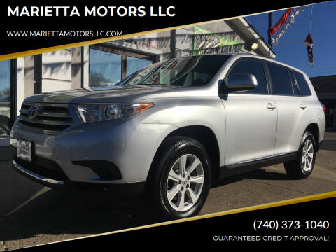 2013 Toyota Highlander for sale at MARIETTA MOTORS LLC in Marietta OH