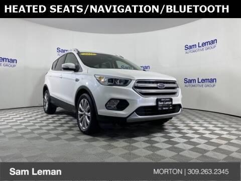 2018 Ford Escape for sale at Sam Leman CDJRF Morton in Morton IL