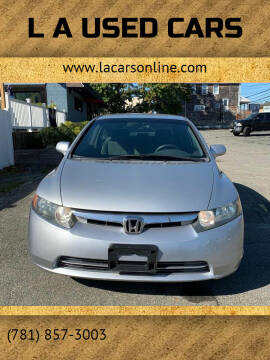 2006 Honda Civic for sale at L A Used Cars in Abington MA