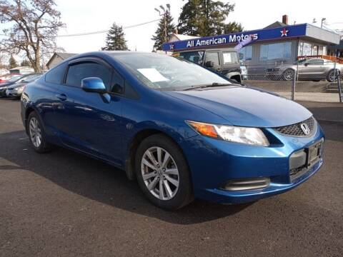 2012 Honda Civic for sale at All American Motors in Tacoma WA