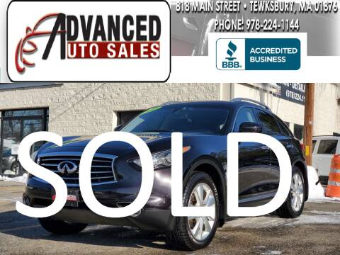 2012 Infiniti FX35 for sale at Advanced Auto Sales in Tewksbury MA