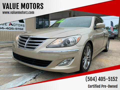 2012 Hyundai Genesis for sale at VALUE MOTORS in Kenner LA