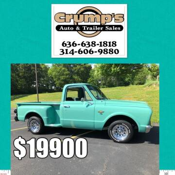 1967 Chevrolet C/K 10 Series for sale at CRUMP'S AUTO & TRAILER SALES in Crystal City MO