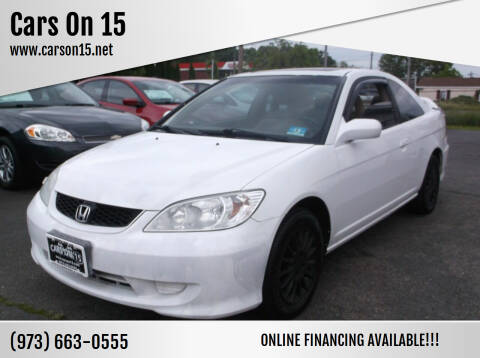 2005 Honda Civic for sale at Cars On 15 in Lake Hopatcong NJ