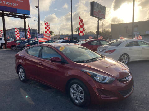 2016 Hyundai Elantra for sale at MACHADO AUTO SALES in Miami FL