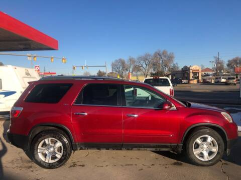 2009 GMC Acadia for sale at Sunset Auto Sales & Repair in Lasalle CO